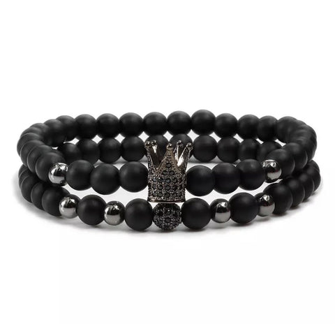 Grand Crown Distance Bracelets - Black