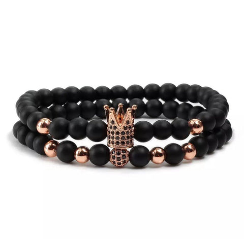 Grand Crown Distance Bracelets - Rose