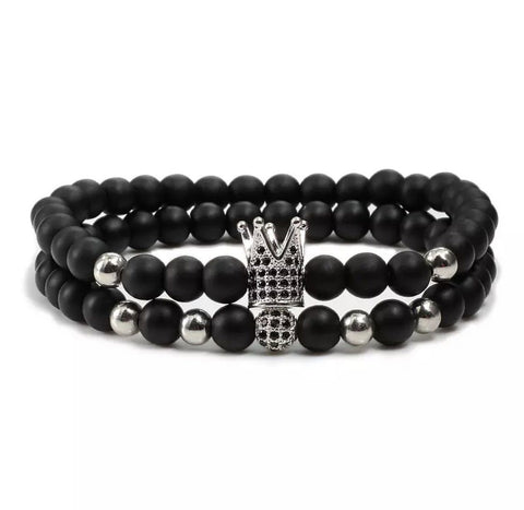 Grand Crown Distance Bracelets - Silver