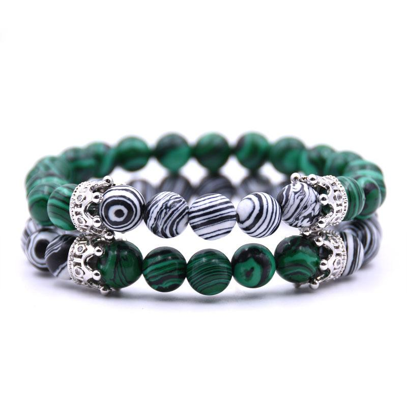 Noble Crown Distance Bracelets - Pine