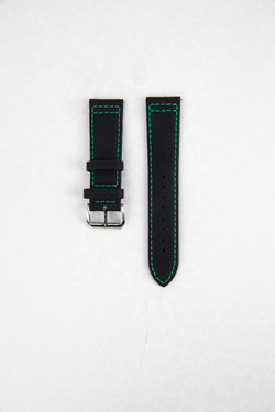 V2 Green Stitch Sailcloth Patterned Strap