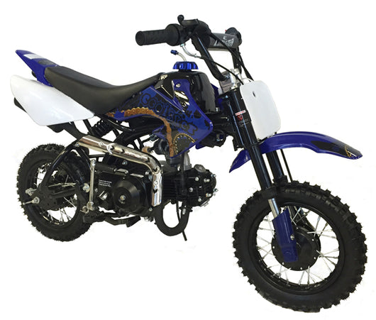 Coolster 70cc Blue Dirt Bike Semi Automatic Auto Clutch Quad