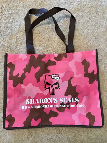 Sharon's SEALs Pink Camo cloth tote