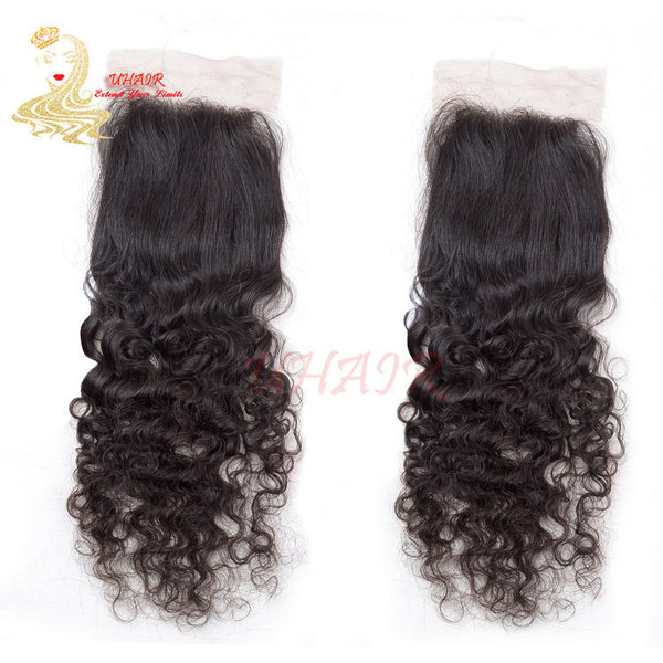 9A 3.5x4 Brazilian Human Lace Top Closure Curly Hair