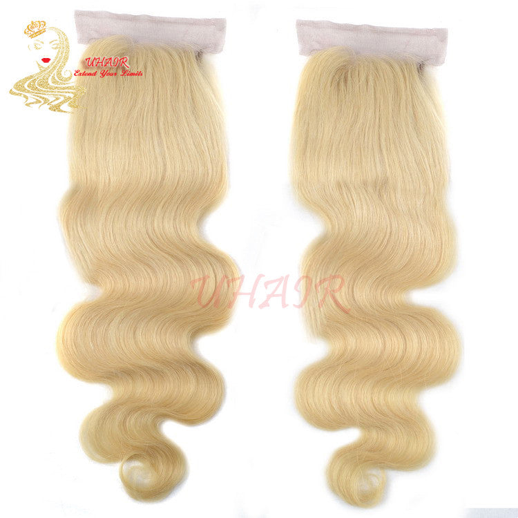 Lace top closure 4x4 613# Body Wave Golden/Blonde