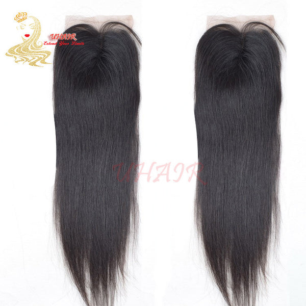 9A Brazilian lace top closure 4x4 Straight Hair