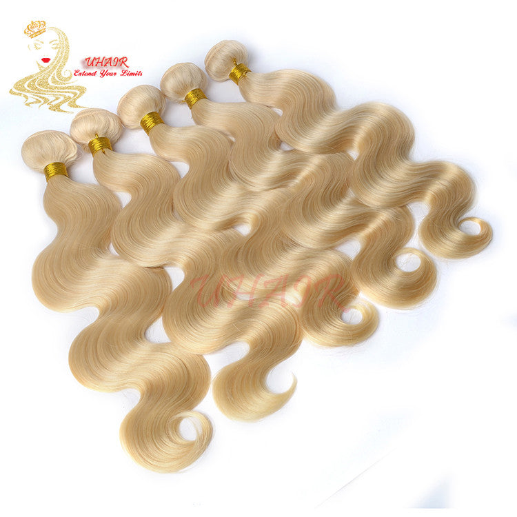 Super Quality European Body Wave Hair Fit In Salon Golden Blonde