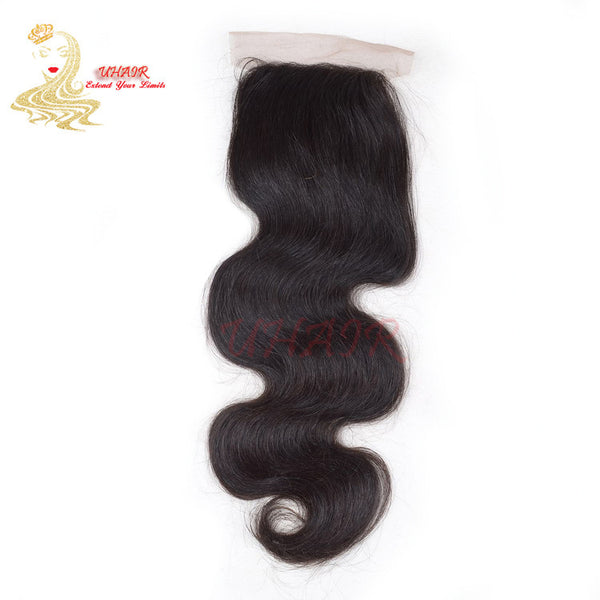 9A Brazilian lace top closure 4x4 Body Wave Hair