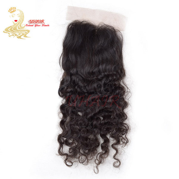 9A Brazilian lace top closure 4x4 Deep Wave Hair