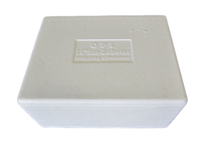 SMALL LOBSTER STYRO BOX/LID