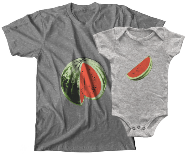 Mommy & Me Watermelon Set (NB Onesie)