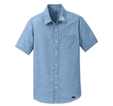 Men's Short Sleeve Button-up Chambray Shirt