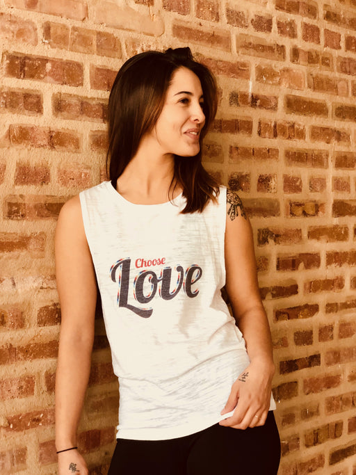 Choose Love Muscle Tank (White)