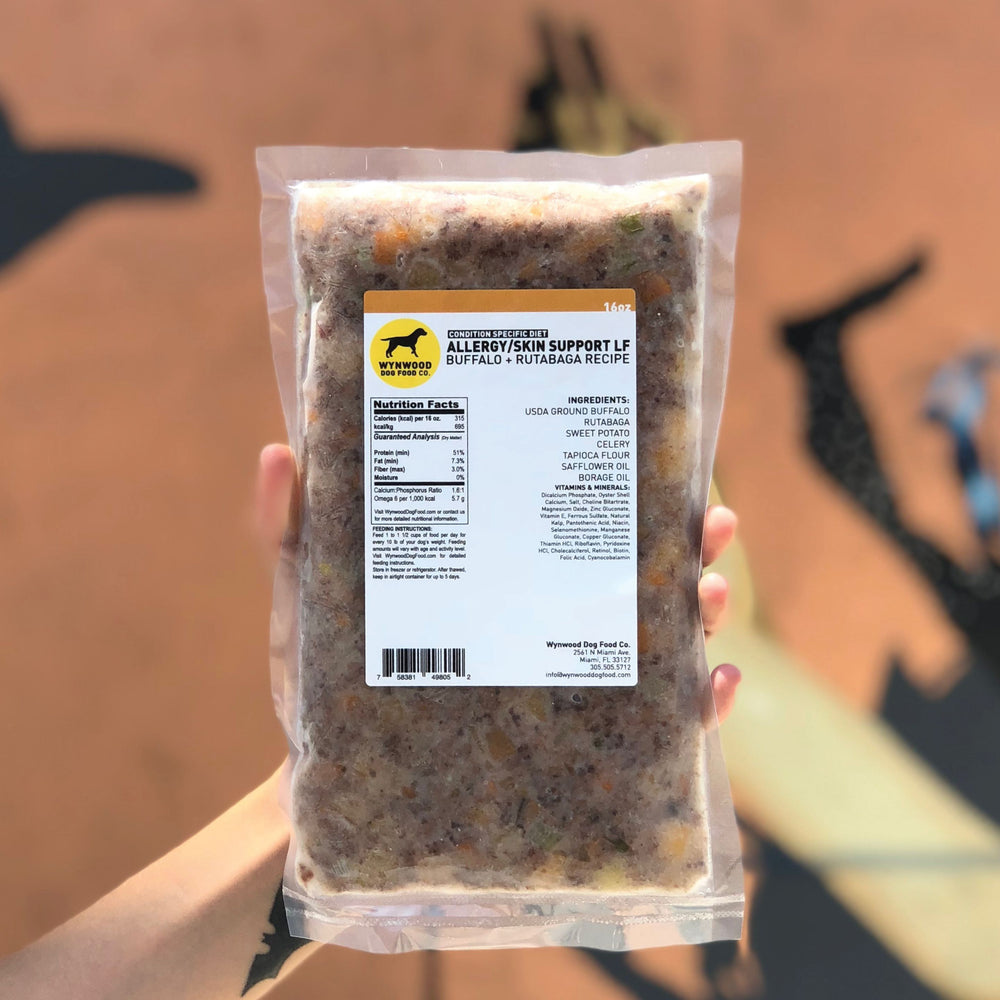 ALLERGY/SKIN SUPPORT LF: BUFFALO + RUTABAGA - Wynwood Dog Food Co.