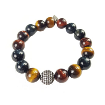 12mm Grade A Mixed Tiger's Eye Pavé Accent - 7