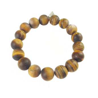 12mm Matte Tiger's Eye - 7