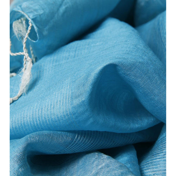 Indian Artizans - Light Blue Silk Dupattas - rang