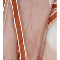 White & Orange Organza Dupatta - rang