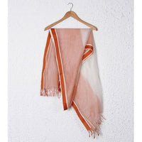 White & Orange Organza Dupatta