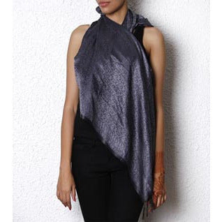Steel Grey Dupattas - Indian Artizans - rang
