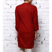 Red Cotton Printed Kurta | Designer Kurtis | #Rang