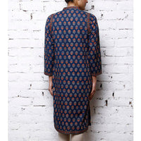 Blue Cotton Printed Kurta - rang