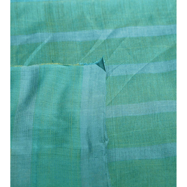 Blue & Green Chequered Mangalgiri Cotton Saree - rang