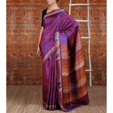 Purple Tussar Silk Saree - rang