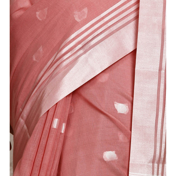 Pink Cotton Silk Supernet Saree - rang