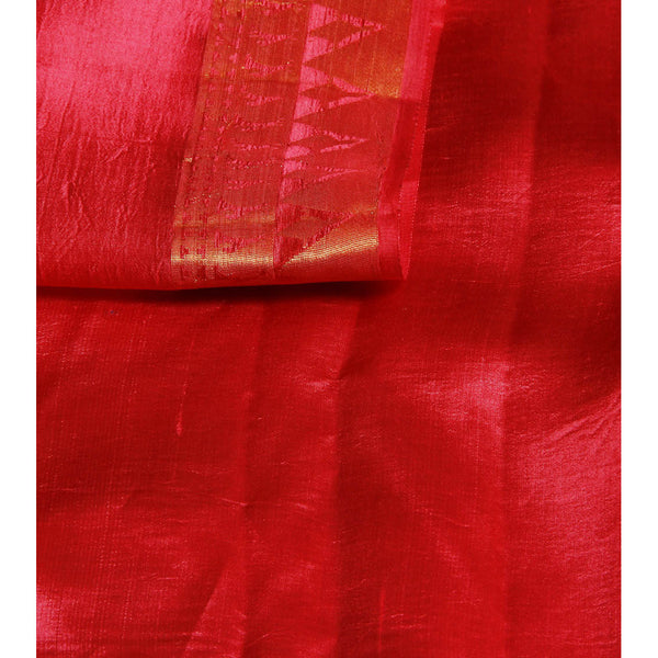 Pink Silk Saree with Zari Work - rang