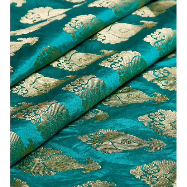 Green Silk Sarees with Zari Work
