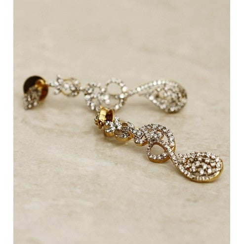 Stone Embellished Dangler Earrings (100000061536)