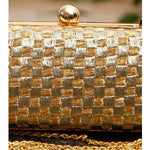 Golden & Silver Zari Clutch