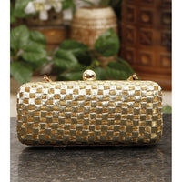 Golden & Silver Zari Clutch - rang