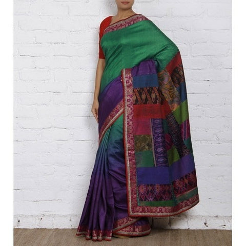 Multicolored Silk Saree - rang