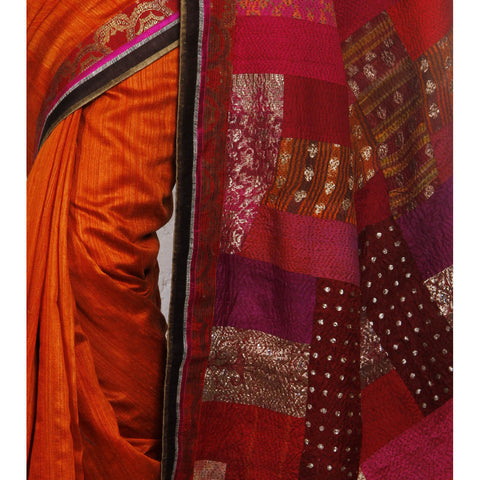 Multicoloured Silk Saree