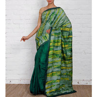 Green Silk Sarees - rang