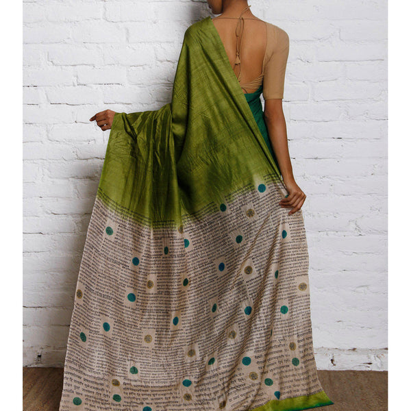 Green & Blue Silk Saree