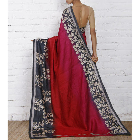 Deep Pink Silk Saree