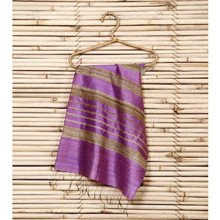 Light Purple Silk Duppatta - rang