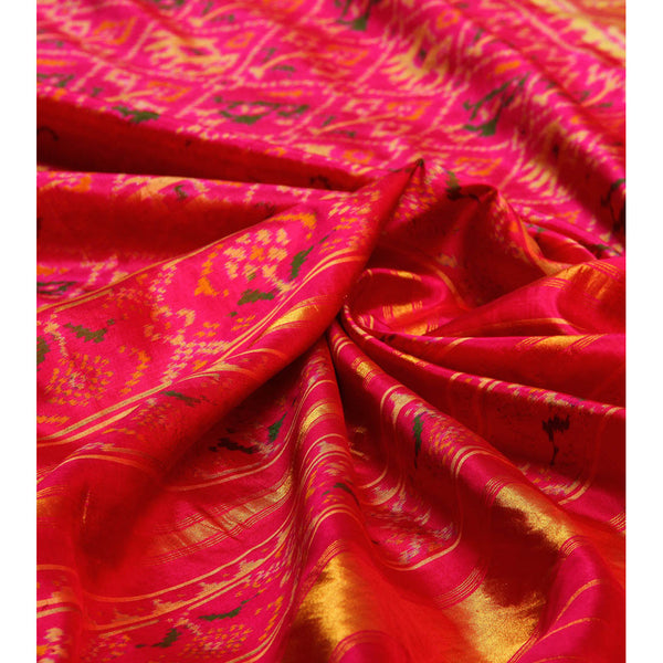 Pink Silk Saree - rang