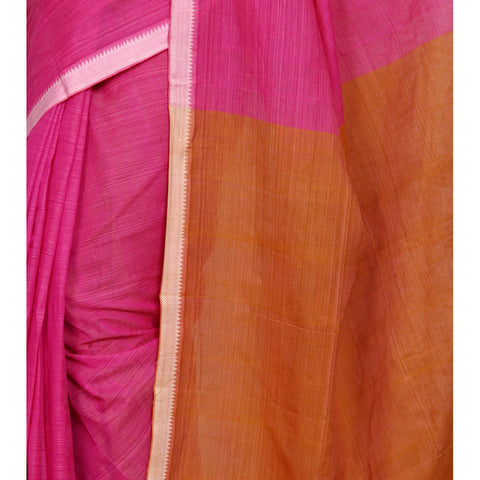 Pink Mangalgiri Cotton Saree