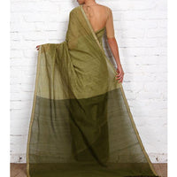 Green Mangalgiri Cotton Saree - rang