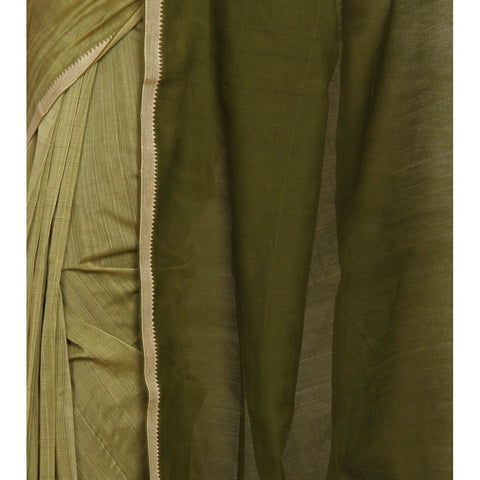 Green Mangalgiri Cotton Saree