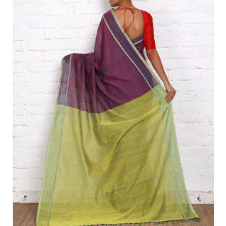 Purple Mangalgiri Cotton Sarees