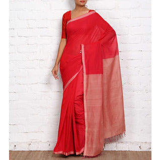 Dark Pink Mangalgiri Cotton Saree - rang