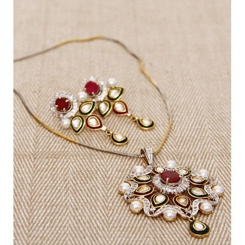 Kundan & Stone Embellished Necklace Set