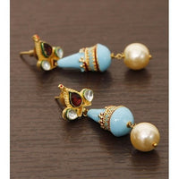 Golden Meenakari Earrings - rang