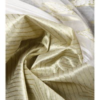 Off White & Golden Jamdani Cotton Silk Saree - rang