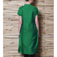 Green Tussar Cotton Kurta - rang